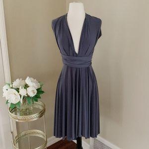 Von Ronen Short Transformer Dress Gray